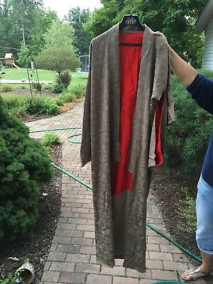 Antique Vintage Japanese Brown/Red Kimono