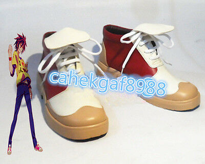Custom-Made Anime GAME NO LIFE Sora Rose Gradient Cosplay Costume Boots Shoes :Q