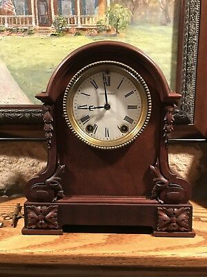 "Antique 1900 Seth Thomas City Series ""milan"" Mantle Clock-Beautiful Condition-Wo"
