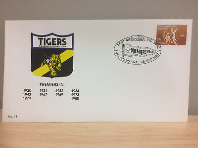 AFL VFL Richmond Tigers First day cover 1982 - EXC condition
