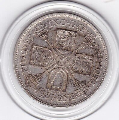 1931   King  George  V  Florin  (2/-)  Sterling Silver (50%)  Coin