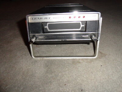Lear Jet Stereo-8 Model P-519 Solid State 8-Track Tape Player - Working Cond.