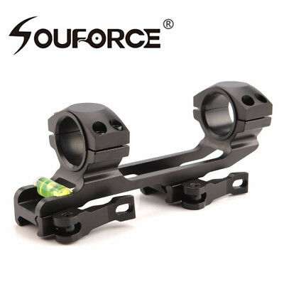 Quick release 30mm Ring 20mm Picatinny Rail QD Scope Mount&Bubble Level 4 rifle
