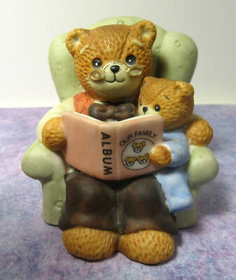 Lucy & Me ~ Grandpa Our Family Album and Lil' Lucy on Chair ~ Enesco Figurine