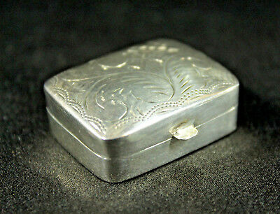 Sterling Silver Vintage Pill or Snuff Box 15.4 grams, Anne Anka Estate