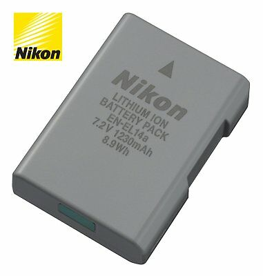 Rechargeable Battery EN-EL14a enel14a 1230mAh For Nikon D3300 D5100 D5200 D5300