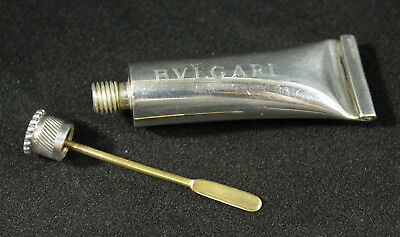 Bulgari Sterling Silver 'Paint Tube' Scent Flask Perfume / Cologne Bottle 24.8g