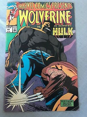 Vintage Marvel Comics Wolverine Vs The Incredible Hulk Issue 55 Published 1990