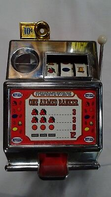 "Vintage Toy Slot Machine ""one Armed Banker"" Medley Mfg. Co. Reno,  Nevada"