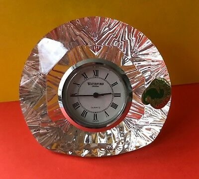Cat Charity Auction Small Waterford Crystal Clock battery operated Roman Numeral