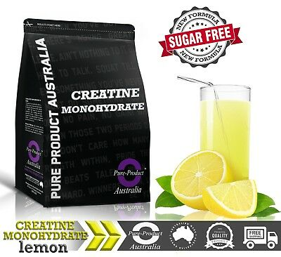 1KG  CREATINE MONOHYDRATE  SWEET LEMON Flavour
