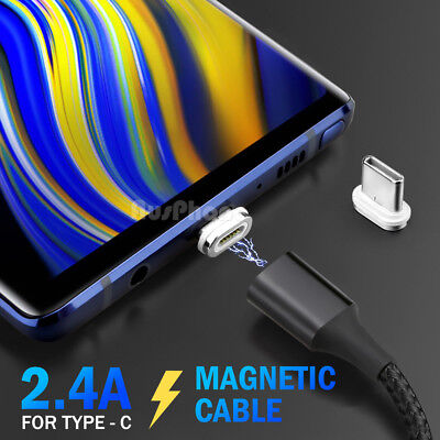 Magnetic Micro USB/ Type-C Data Fast Charger Cable For Samsung S10 S9 S8 S7 Note