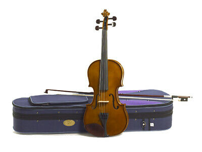 STENTOR STUDENT I 1/8 VIOLIN Solid Spruce Hand carved & Gauged Top Bow & Free...