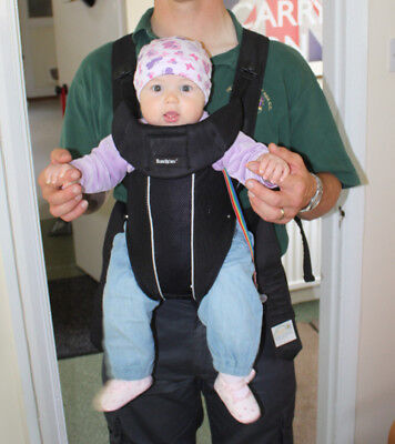 Baby Bjorn Synergy baby carrier black VGC