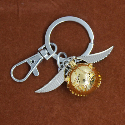 Harry Potter Gold Snitch Keychain Keyrings Metal Pendant