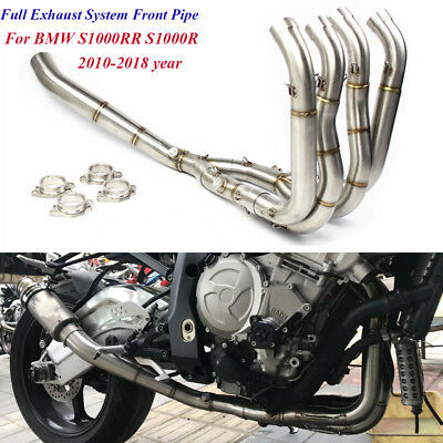 Motorcycle Full Exhaust System Header Front Link Pipe For BMW S1000R S1000RR New