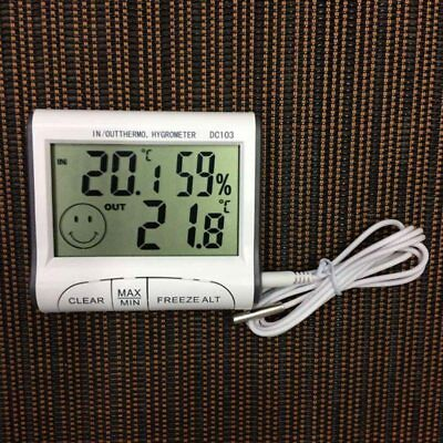 Digital Thermometer Humidity Meter Room Temperature Indoor LCD Hygrometer White