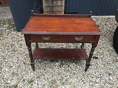 Mahogany side console table