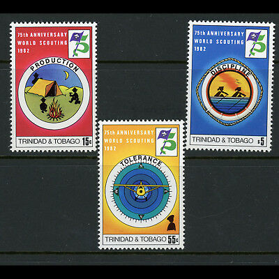 TRINIDAD & TOBAGO 1982 Scout. SG 603-605. Mint Never Hinged. (AX124)