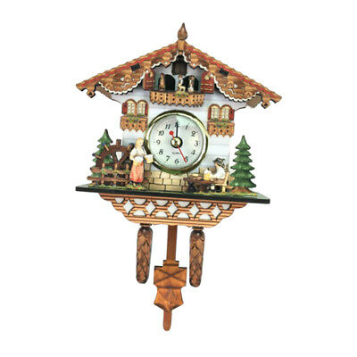 Wooden Cuckoo Clock Decorative Wall Clock with Quartz Movement Novelty Gifts