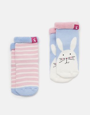 Joules 125029 Soft Towelling Socks in BUNNY
