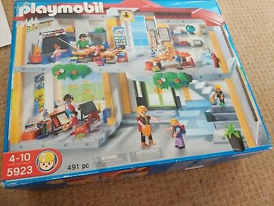 Playmobil 5923 School 2 Floors In Original Box Complete And With