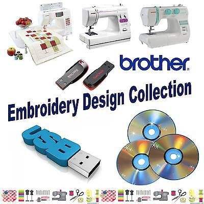 Brother Baby Lock PES USB Flash Drive Embroidery Designs