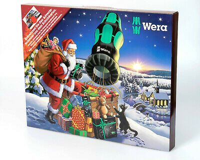 WERA 2018 VDE Screwdriver,Bits,Opener Set Tool Christmas Advent Calendar 135999