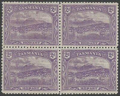 1905 2d Plum Pictorial Crown over A Wmk - Perf 11 - Block of 4 Mint - SG251b