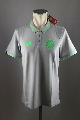 Celtic Glasgow FC Polo Shirt NEW BALANCE Gr. M L XL XXL XXXL 2017-18 grau Neu