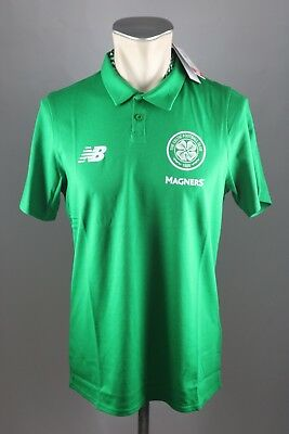 Celtic Glasgow FC Polo Shirt NEW BALANCE Gr. M L XL XXL XXXL 2017-18 grün Neu
