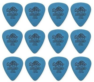 Jim Dunlop Tortex Standard Guitar Picks - Blue 1.00mm -  Pack of 12 Picks
