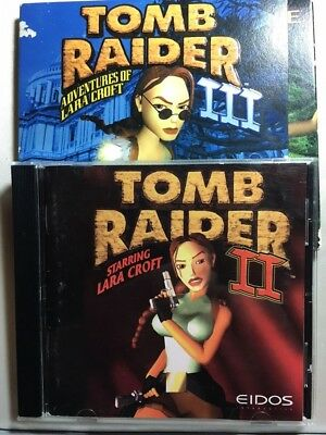 Tomb Raider 2 and Tomb Raider 3 with Demo disk and User Manuals, both for PC