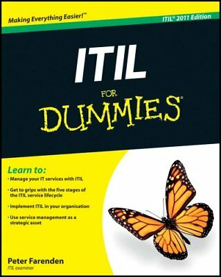 ITIL For Dummies by Peter Farenden 9781119950134 (Paperback, 2012)