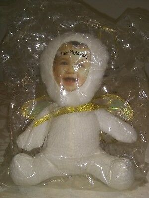 NIB Photo Cuddlers white angel bear-for your baby's photo