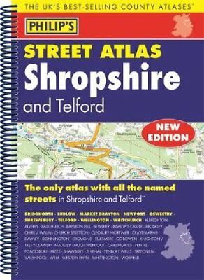 Philip's Street Atlas Shropshire and Telford 9781849074490 (Spiral bound, 2017)