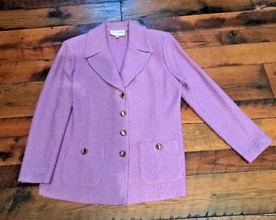 ST JOHN Collection by Marie Gray Light Purple Suit Jacket Size 12
