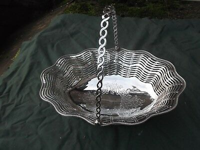 1777 magnificent Georgian Basket by Burrage Davenport , great Armorial 20ozs