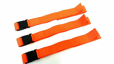 Spine Board Straps Medical Emergency Stretcher Disposable Orange - Pack of 3