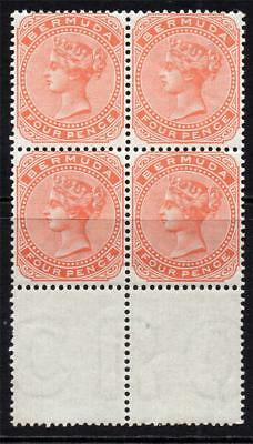 Bermuda Block of Four 4 Pence Stamps c1880 Unmounted Mint SG20