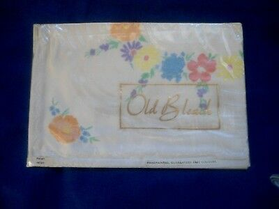 "Old Stock But In Original Packaging Irish Old Bleach Tray Cloth 14"" X 20"""