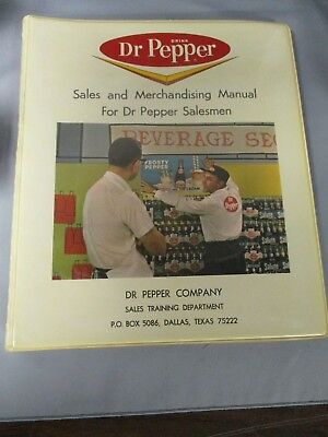 Dr Pepper Sales And Merchandising Manual Dated 1964