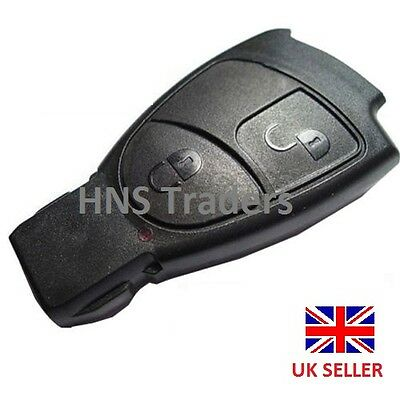 *NEW For MERCEDES BENZ SMART KEY *FOB REMOTE 2 BUTTON SHELL CASE C E + logo* A40