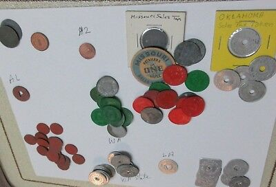 Vintage  TAX TOKENS Lot of 75