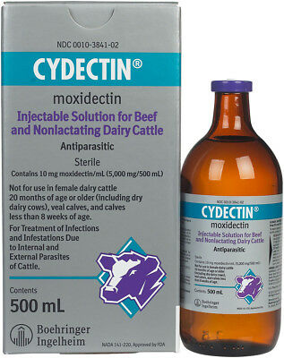 Bayer Cydectin Injectable 500ml Cattle
