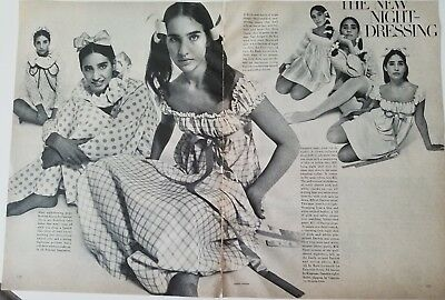 1961 womens polkadot plaid gown lingerie Rudi gernreich for Exquisite Form ad