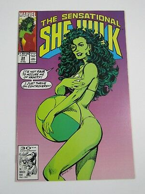 Sensational She-Hulk  #34- Marvel Comics 1991-Vanity Fair Demi Moore cover