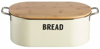 Home, Furniture & Diy Habitat 'panda' Solid Bamboo Bread Bin Bnib Food & Kitchen Storage
