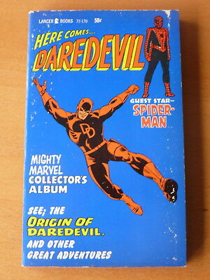 'Here Comes . Daredevil'   Mighty Marvel Collector's Album! (1967, Lancer)  Fine