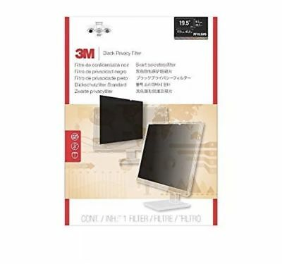 3M Black Privacy Filter For Wide Screen Desktop Monitor New